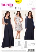 Burda Ladies Plus Sizes Easy Sewing Pattern 6947 Dresses & Bolero