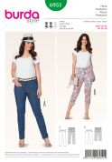 Burda Ladies Plus Sizes Sewing Pattern 6951 Trouser Pants & Jeans