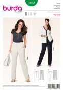 Burda Ladies Plus Sizes Easy Sewing Pattern 6952 Classic Smart Trouser Pants