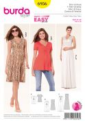 Burda Ladies Easy Sewing Pattern 6956 Maternity Tops & Dresses