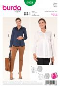 Burda Ladies Sewing Pattern 6958 Maternity Shirt Top & Jacket