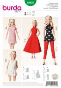 Burda Crafts Easy Sewing Pattern 6960 Barbie Style Doll Clothes