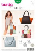 Burda Accessories Sewing Pattern 6962 Handbag & Patchwork Shopping Bag