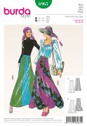 Burda Ladies Easy Sewing Pattern 6965 Vintage Style Gored Maxi Skirt