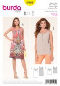 Burda Ladies Easy Sewing Pattern 6969 Loose Fit Top & Dress