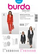 Burda Ladies Sewing Pattern 6985 Smart Jackets & Trouser Suit
