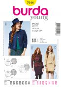 Burda Ladies Sewing Pattern 7018 Jean Jackets