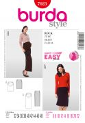 Burda Ladies Easy Sewing Pattern 7023 Maternity Skirts with Gathering