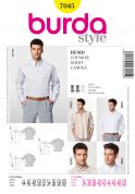 Burda Men's Sewing Pattern 7045 Smart Long Sleeve Shirts