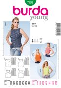 Burda Ladies Easy Sewing Pattern 7051 Summer Tops