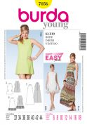 Burda Ladies Easy Sewing Pattern 7056 Short & Floor Length Dresses