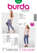 Burda Ladies Petite Sizes Easy Sewing Pattern 7058 Slim Trouser Pants