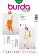 Burda Ladies Easy Sewing Pattern 7062 Slim Trouser Pants