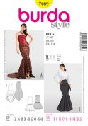 Burda Ladies Easy Sewing Pattern 7089 Fishtail Skirts