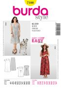 Burda Ladies Plus Sizes Easy Sewing Pattern 7100 Summer Dresses