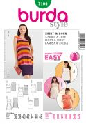 Burda Ladies Easy Sewing Pattern 7104 Maternity Summer Tops
