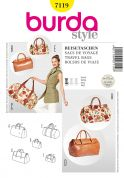 Burda Accessories Easy Sewing Pattern 7119 Travel Hand Bags