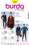 Burda Ladies Sewing Pattern 7140 Fitted Jackets in 4 Variations