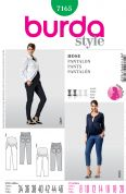 Burda Ladies Easy Sewing Pattern 7165 Maternity Cropped & Full Length Pants