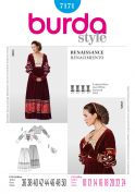 Burda Ladies Sewing Pattern 7171 Renaissance Skirt & Bodice Costume