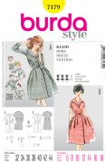 Burda Ladies Sewing Pattern 7179 Vintage Style Dresses & Accessories
