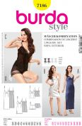 Burda Ladies Easy Sewing Pattern 7186 Night Gowns & Lingerie Set