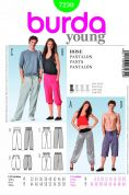 Burda Ladies & Men's Easy Sewing Pattern 7230 Casual Sweat Pants
