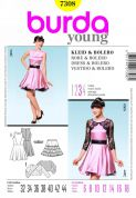 Burda Ladies Sewing Pattern 7308 Dresses, Underskirt & Bolero