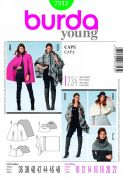 Burda Ladies Easy Sewing Pattern 7313 Slouchy Capes