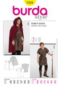Burda Men's Easy Sewing Pattern 7333 Cape, Shepherd & Robin Hood Costume