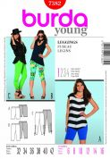 Burda Ladies Easy Sewing Pattern 7382 Leggings in 3 Lengths