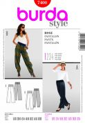 Burda Ladies Easy Sewing Pattern 7400 Harem Pants