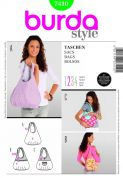 Burda Easy Accessories Sewing Pattern 7410 Rounded Shoulder Hand Bags