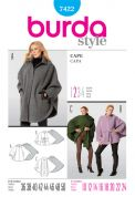 Burda Ladies Easy Sewing Pattern 7422 Cape Coats & Jackets