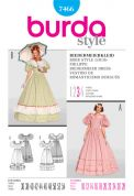 Burda Ladies Sewing Pattern 7466 Biedermeier Dress Fancy Dress Costume