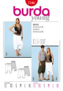 Burda Ladies & Men's Easy Sewing Pattern 7546 Harem Pants