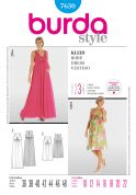 Burda Ladies Sewing Pattern 7630 Empire Line Maternity Dresses