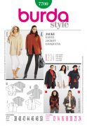 Burda Ladies Easy Sewing Pattern 7700 Casual One Button Jackets & Coats