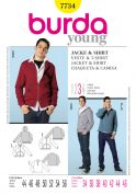 Burda Mens Sewing Pattern 7734 Tracksuit Hoodie & Sweatshirt