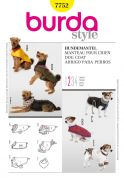 Burda Pets Easy Sewing Pattern 7752 Dog Coats in 6 Sizes & Variations