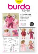 Burda Craft Easy Sewing Pattern 7753 Doll Clothes Complete Wardrobe