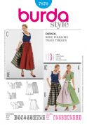 Burda Ladies Sewing Pattern 7870 Dirndl Dresses & Aprons