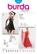 Burda Ladies Sewing Pattern 7879 Dancewear Dresses with Leotards