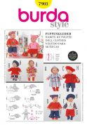 Burda Craft Easy Sewing Pattern 7903 Doll Clothes & Accessories