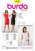 Burda Ladies Easy Sewing Pattern 7972 Top & Shift Dresses