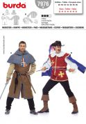Burda Men's Sewing Pattern 7976 Musketeer & Page Costume