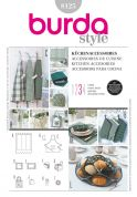 Burda Ladies & Homeware Sewing Pattern 8125 Apron & Kitchen Accessories