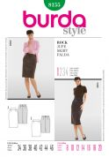 Burda Ladies Easy Sewing Pattern 8155 Pencil Skirts