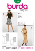 Burda Ladies Easy Sewing Pattern 8280 Panelled Skirts in 2 Lengths
