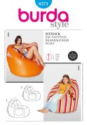 Burda Homeware Easy Sewing Pattern 8373 Beanbag Chairs